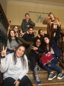 Enjoying a fun school tour